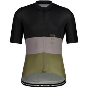 Maloja WeisstanneM. 1/2 Maglietta da Ciclismo a Maniche Corte Uomo, nero/verde oliva